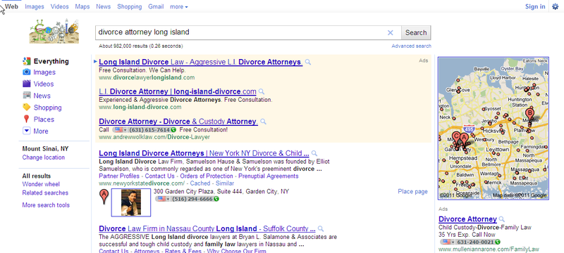 Divorce attorney long island Google search