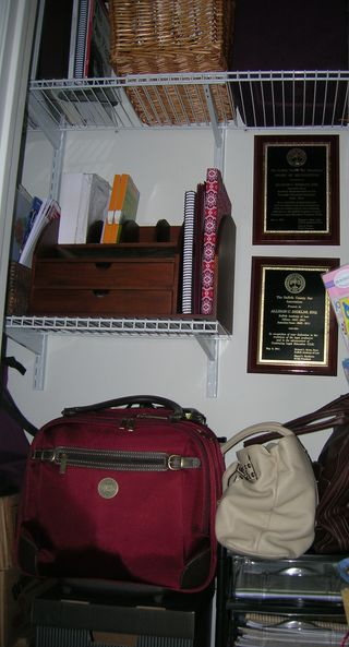Office closet after