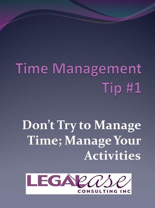 Time Management Tip One