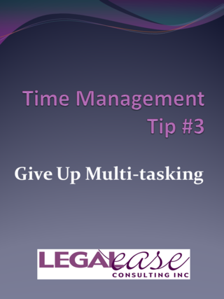 Time Management Tip 3