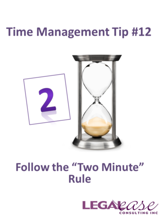 Time Management Tip 12 Two Minute Actions