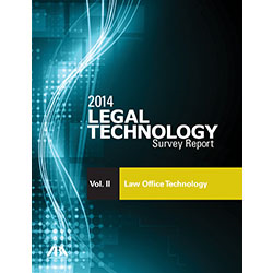 2014 legal technology survey report