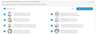 LinkedIn uploaded contacts 2017