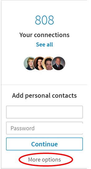 LinkedIn add contacts 2017